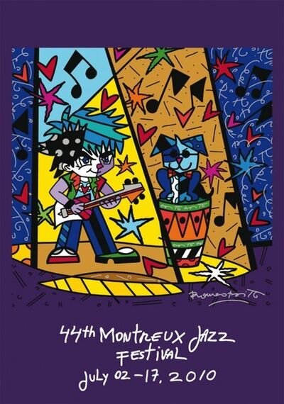 Romero Britto, 'Montreux Jazz Poster', 2010