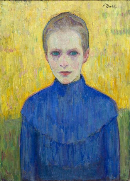 Nils Dardel, 'Flicka i blå klänning (Girl in a blue dress)', 1910