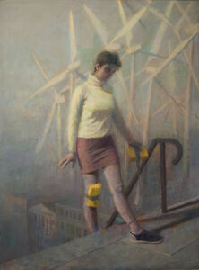 Paul Fenniak, 'Pilgrim on Cathedral Steps', 2018