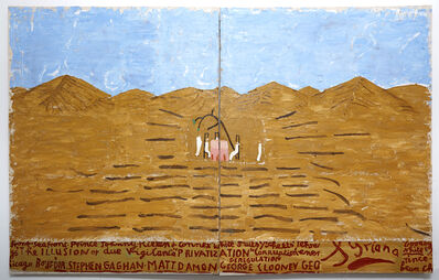 Rose Wylie, 'Pink Table Cloth (Long Shot) (Film Notes)', 2013