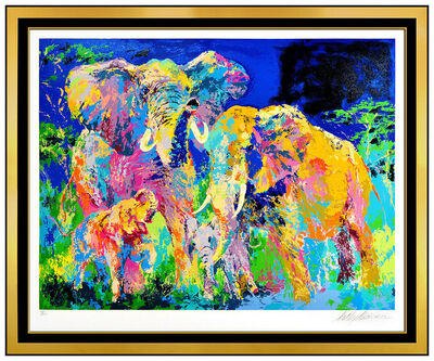 LeRoy Neiman, 'Elephant Family', 1983