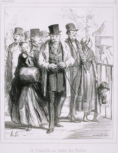 Honoré Daumier, 'Souvenir d'Artistes: Le Dimanche au Jardin des Plantes', 1862