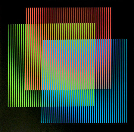 Carlos Cruz-Diez, 'Addition Chromatique RGB Serie Semana - Lunes', 2013