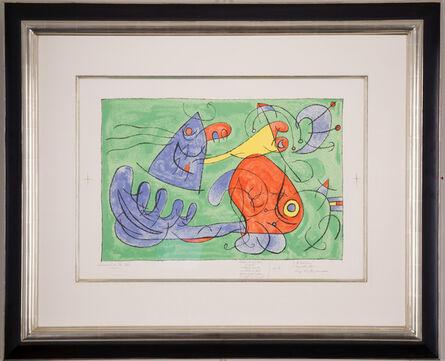 Joan Miró, 'Ubu Roi: Plate XII: Le sommeil du Père Ubu', 1966