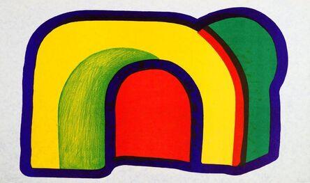Howard Hodgkin, 'Arch (Composition with Red) no. 4 from Europaeische Graphik VII portfolio', 1970