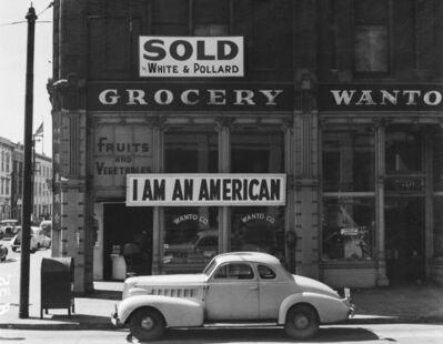 Dorothea Lange, 'I Am an American, Oakland', 1942