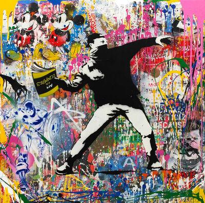 Mr. Brainwash, 'Banksy Flower Thrower', 2017