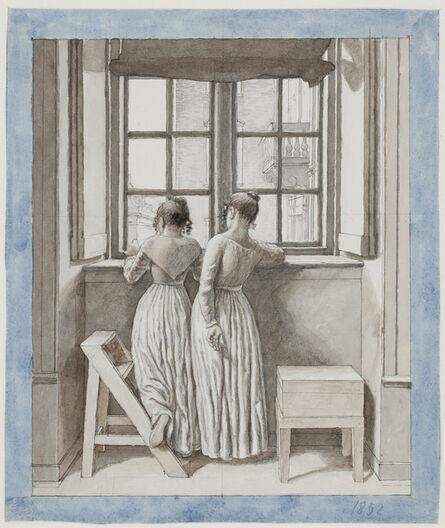 Christoffer Wilhelm Eckersberg, 'At a Window in the Artist's Studio', 1852