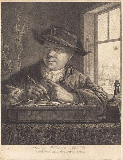 Georg Friedrich Schmidt, 'Self-Portrait with a Spider in the Window', 1758