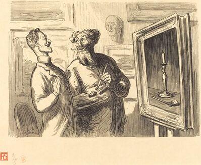 Etienne after Honoré Daumier, 'Un Realiste trouve toujours un plus realiste qui l'admire', 1869