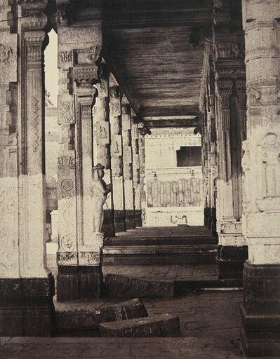 Linnaeus Tripe, 'Madura. The Great Pagoda, Interior View of Part of Muroothappa Sarvacar Munduppum, January–February', 1858
