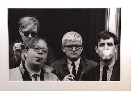 Dennis Hopper, 'Andy Warhol, Henry Geldzahler, David Hockney & Jeff Goodman', 1963