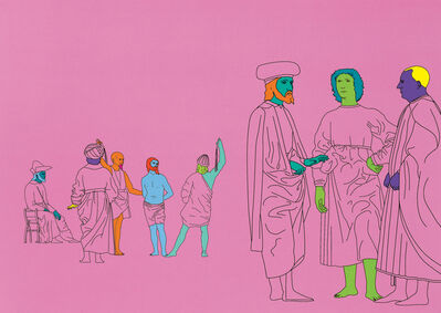Michael Craig-Martin, 'Deconstructing Piero (pink) 2', 2004