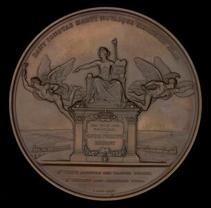 Antoine Bovy, 'The Establishment of the French Railway System: The Law of 11 June 1842 [reverse]', 1842