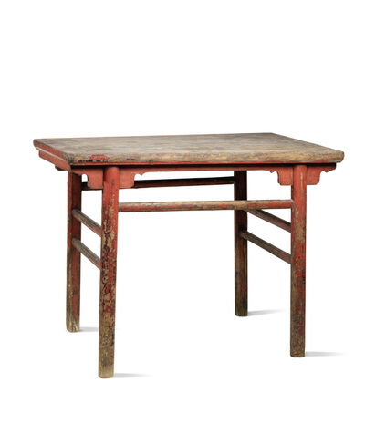 Unknown Chinese, 'A red lacquered softwood rectangular table', China: Shanxi Province-17th century