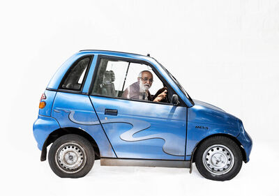 Martin Roemers, 'Reva electric car; Retired manager Sudhir Deshpande (Nashik, Maharashtra)', 2019