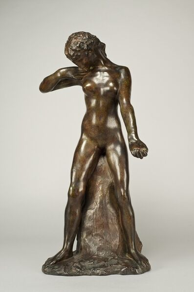 Auguste Rodin, 'Faunesse Debout (Standing Faunesse), Version au Rocher Simple', Conceived in 1884-this example cast in 1945.