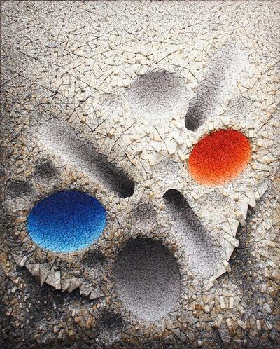Chun Kwang Young, 'Aggregation 08 - D075 Blue & Red', 2008