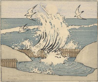 Bror Julius Olsson Nordfeldt, 'The Wave, Moonrise', 1906