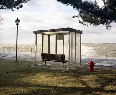 Lisa Kereszi, 'Bus Stop with Sea Spray, Governor's Island, NY', 2003