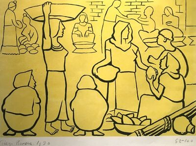 Diego Rivera, 'El Mercado', 1930