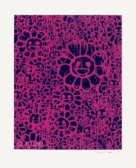 Takashi Murakami, 'Murakami x MADSAKI Flowers Pink Black A', 2017