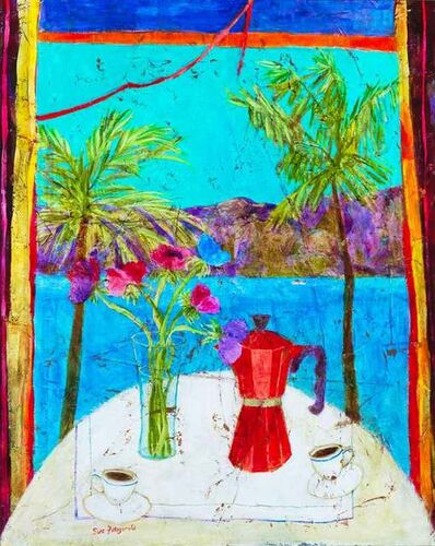 Sue Fitzgerald, 'Morning Coffee, Lake Maggoire'