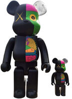 KAWS, 'Dissected Companion: Bearbrick 400% & 100% (Black)', 2010