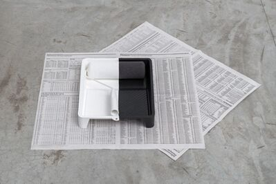 Cinthia Marcelle, 'Excedente [tray, roll, newspaper]', 2015
