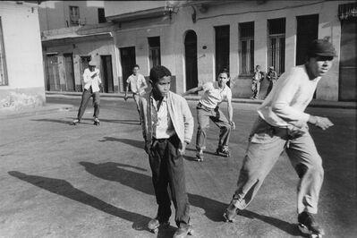 Agnès Varda, 'Boys with roller skates, Havana (Cuba series)', 1962