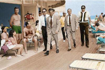 Terry O'Neill, 'Frank Sinatra Boardwalk, Colourised, 1968', 1968
