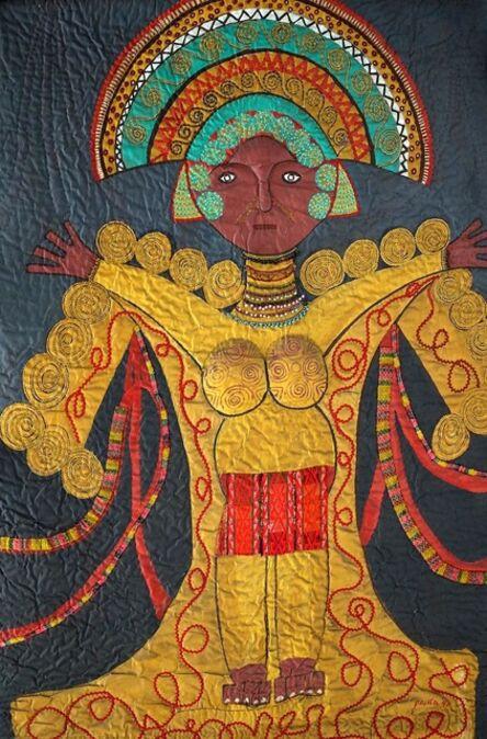 Pacita Abad, 'Mayan mask', 1990