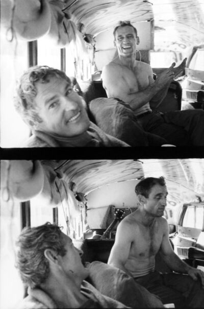 Allen Ginsberg, 'Timothy Leary visiting Neal Cassady who drove Prankster Bus to Millbrook', 1964