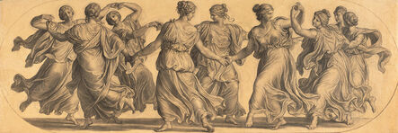 Eduard Bitterlich, 'Dance of the Muses (cartoon for a ceiling painting in the main hall of Palais Epstein)', 1871/1872