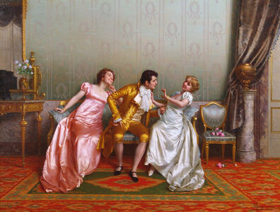Vittorio Reggianini, 'Flirtation', 19th Century