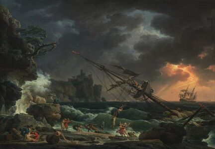 Claude-Joseph Vernet, 'The Shipwreck', 1772