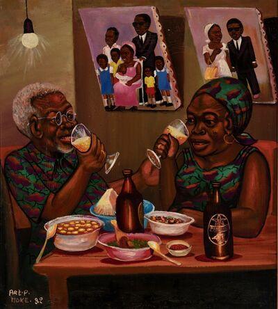 Moke, 'Le Couple à table', 1982