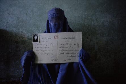 Nina Berman, 'Afghan Woman with Diploma, Kabul, Afghanistan 1998', 1998
