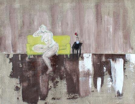 Laura Dargan, 'Lady on Green Sofa'