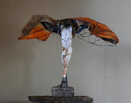 Carl Dahl, 'White angel orange wings', 2020
