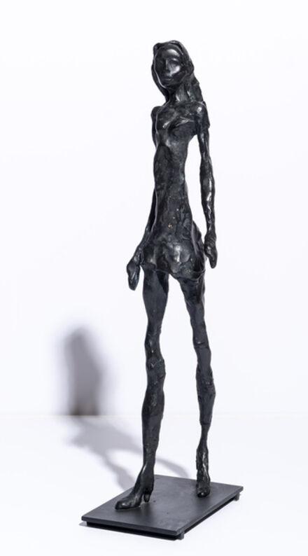Eran Shakine, 'Giacometti's Granddaughter as a Supermodel', 2011