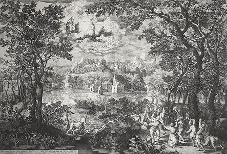 Schelte Adams Bolswert, 'Landscape with the Martyrdom of St. Stephen', ca. 1600s