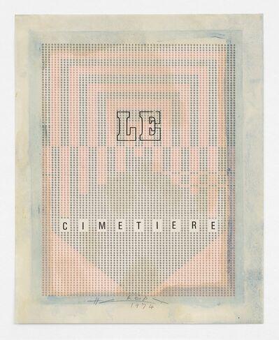 Henri Chopin, 'Le Cimetière', 1974