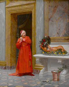 Jehan Georges Vibert, 'Les Deux Robes Rouges', 19th century