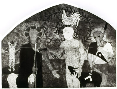 Belkis Ayón, 'La consagración I (The Consecration I)', 1991