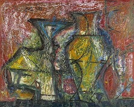 Francis Newton Souza, 'Untitled (Still Life with Pots)', 1960