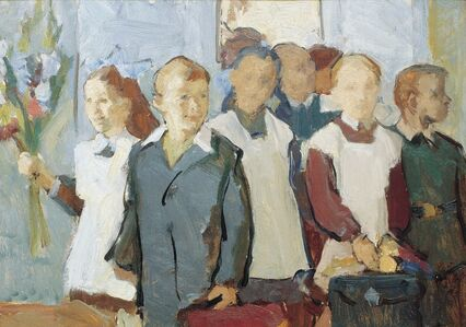 Abram Moseevich Kharkovsky, 'September 1st, the beginning of the school year', 1956