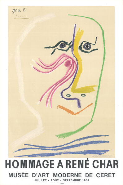 Pablo Picasso, 'Hommage A Rene Char', 1969