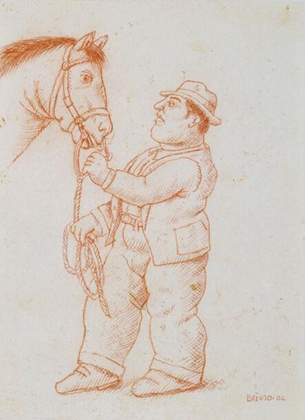 Fernando Botero, 'Man with Horse', 2002