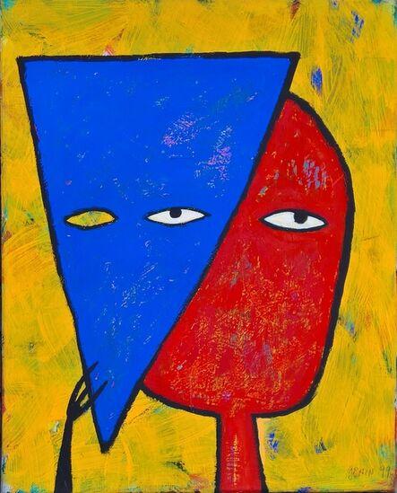 Albrecht Genin, 'Mit blauer Maske', 1999